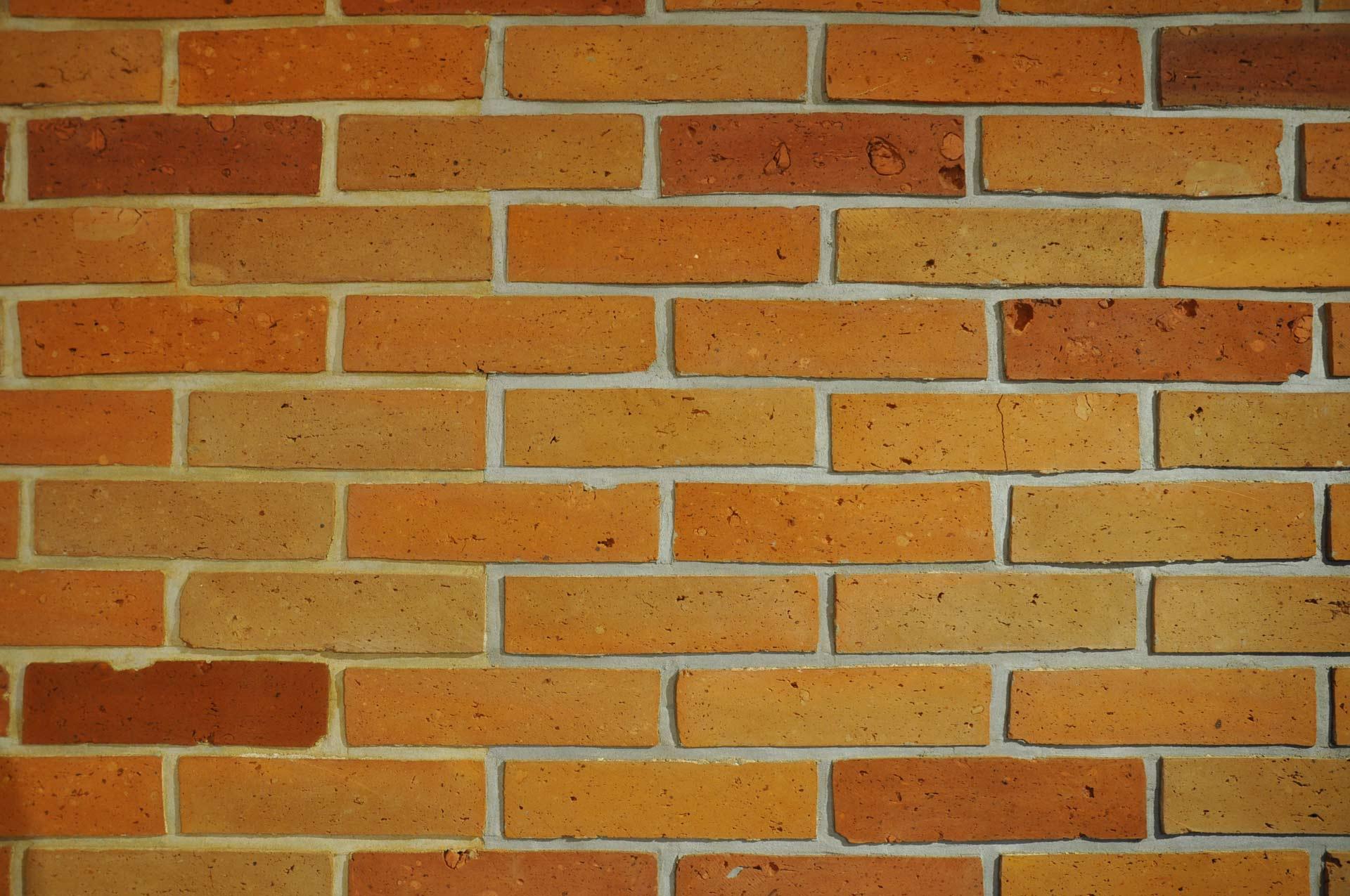 Gładka płytka ze środka cegły